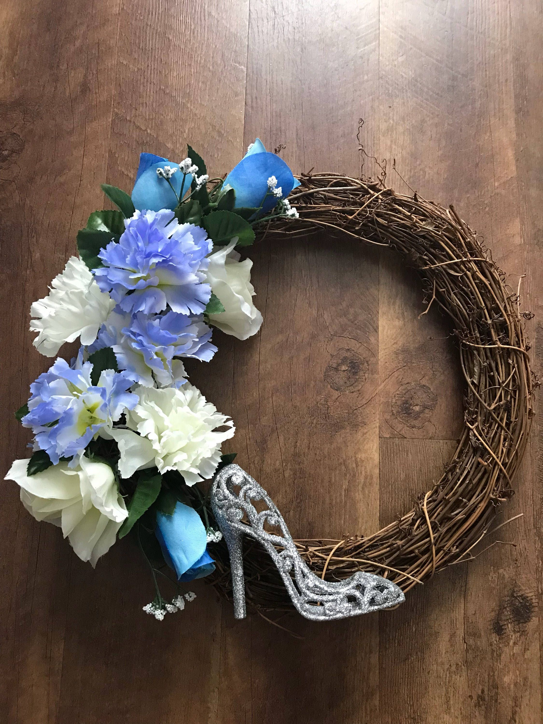 A personal favourite from my Etsy shop https://www.etsy.com/uk/listing/547759462/disney-inspired-cinderella-wreath-12-can