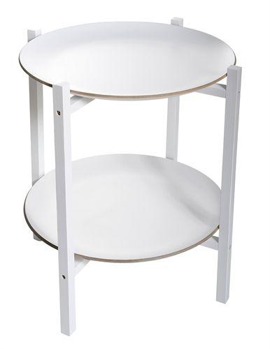 Färg & Form, Tarjotinpöytä, Valkoinen, 53 cm netistä. Lekmer.fi - verkkokaupasta