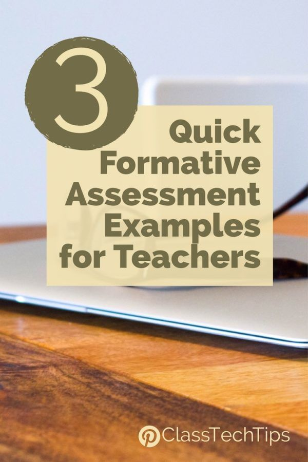 3 Quick Formative Assessment Examples for Teachers Pinterest