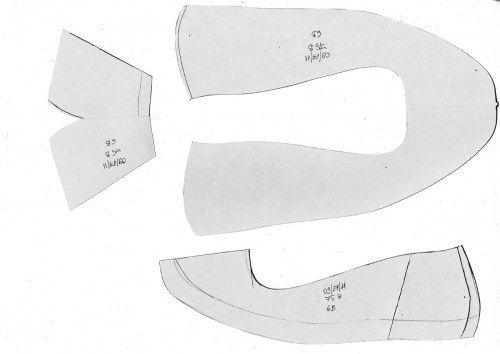 55c57980832e2 Making a flat women's ballet shoe – pattern tutorial | Crafty as a ...