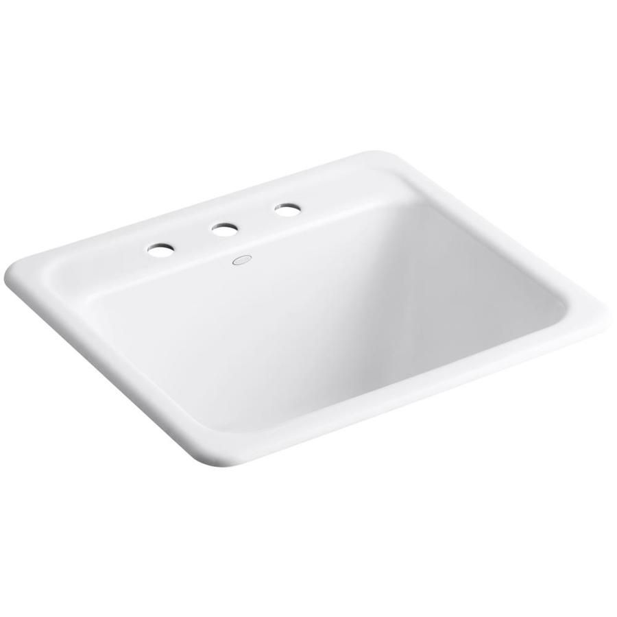 Kohler 22 In X 25 In Single Basin White Undermount Cast Iron Utility Tub Lowes Com In 2020 Utility Sink Basin White Single Basin
