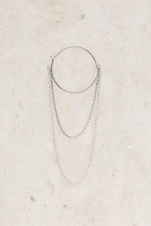 Silver FK earring