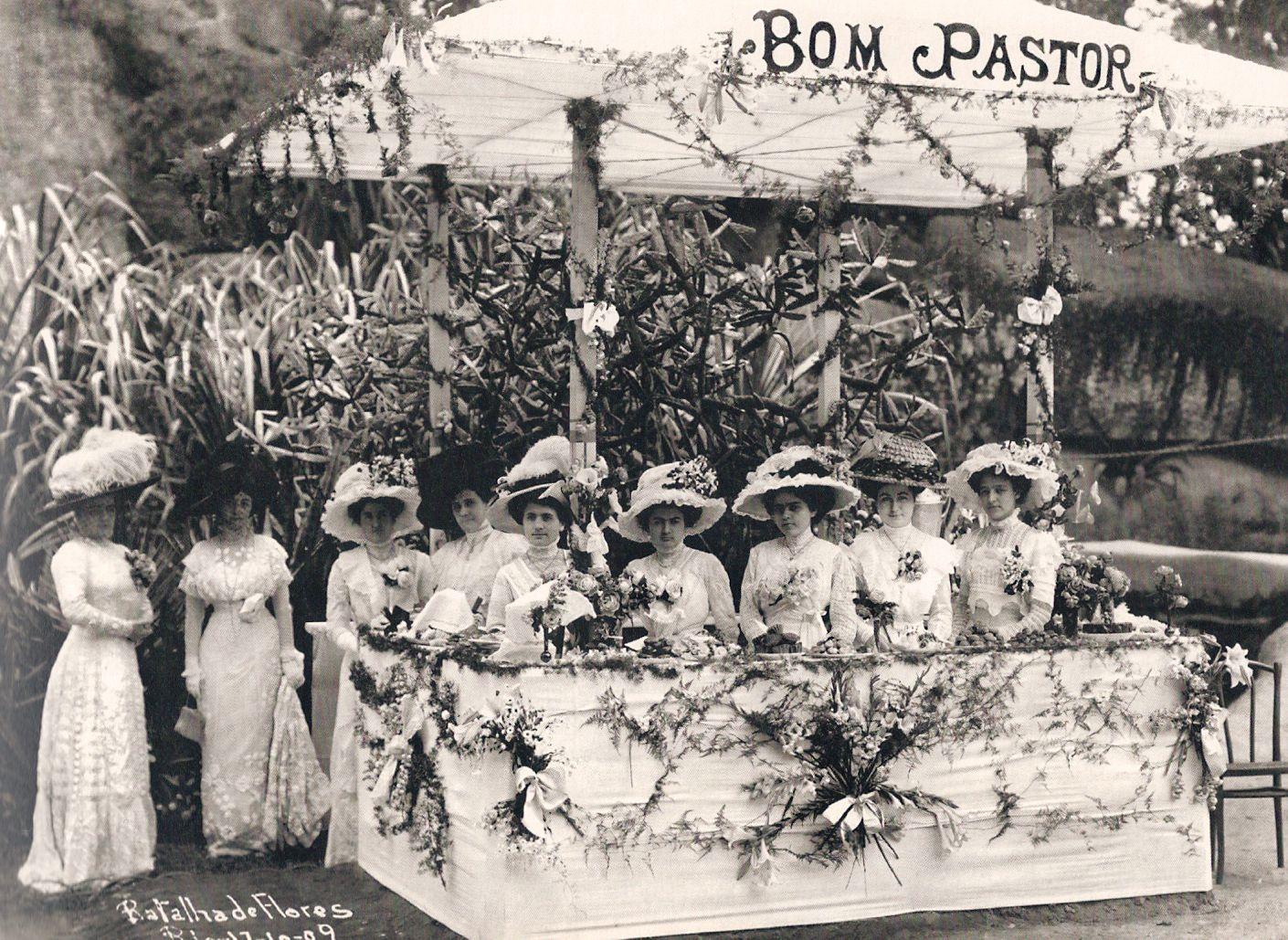 Batalha de Flores, 1908. Fotografia: Augusto Malta.