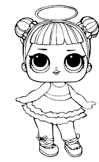 Little Lids Siobhan: LOL Doll Colouring Pages | Unicorn ...