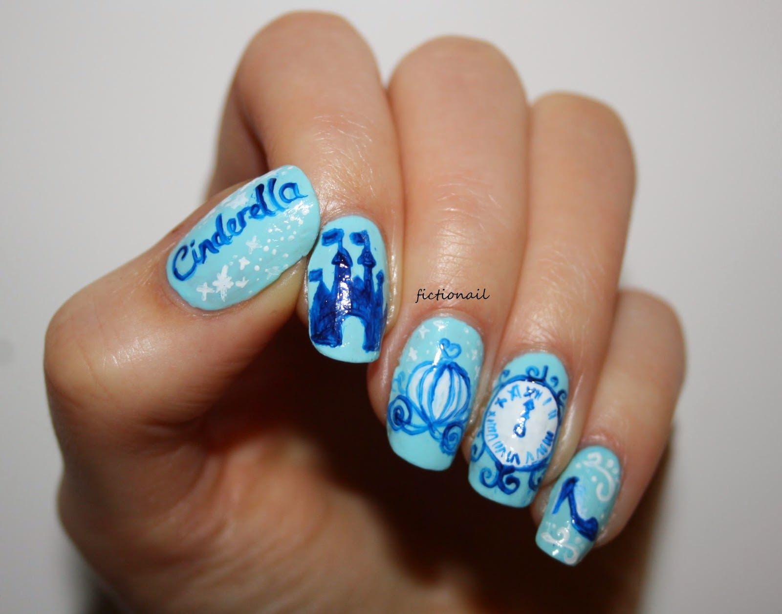 Disney Cinderella Nails Nail Designs Pinterest Cinderella