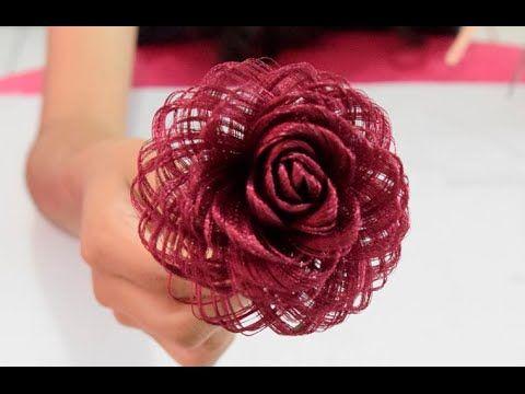 Como Hacer Una Rosa De Tela Fabric Flowers Roses Loveluzlop