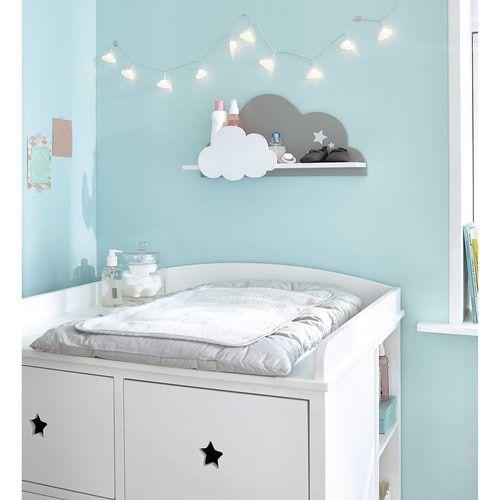 commode à langer en bois blanc l 85 cm   chambre bébé   pinterest