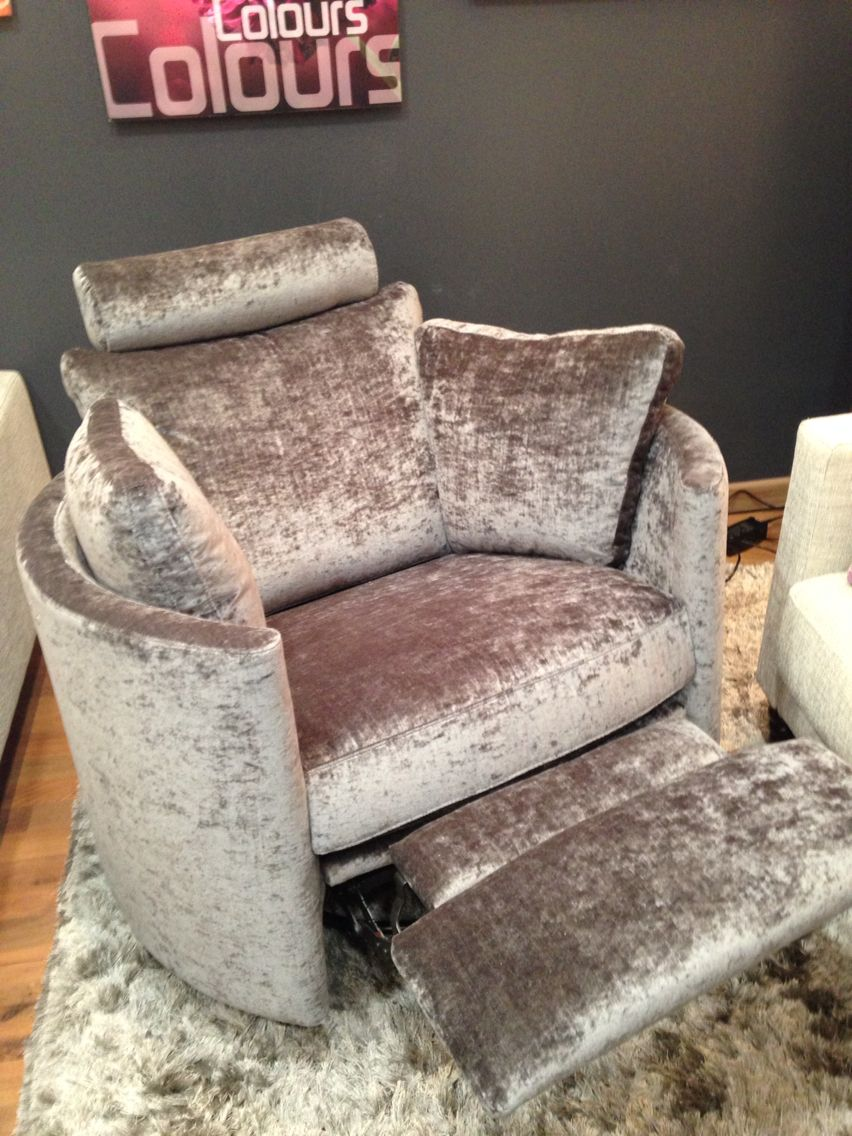 Electric swivel rocking recliner chair this is in modena crushed velvet reclinerchair