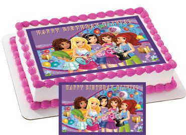 Lego Friends Characters Edible Cake & by CakeTopperSpecialist