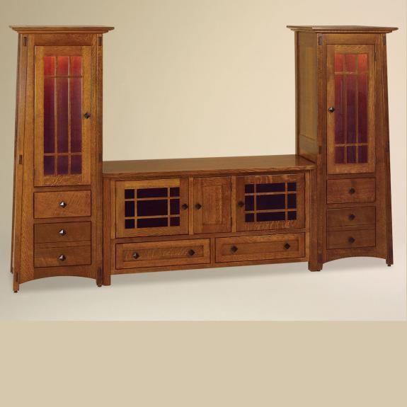 FVE-060 Oak Kascade TV Tall Cabinet