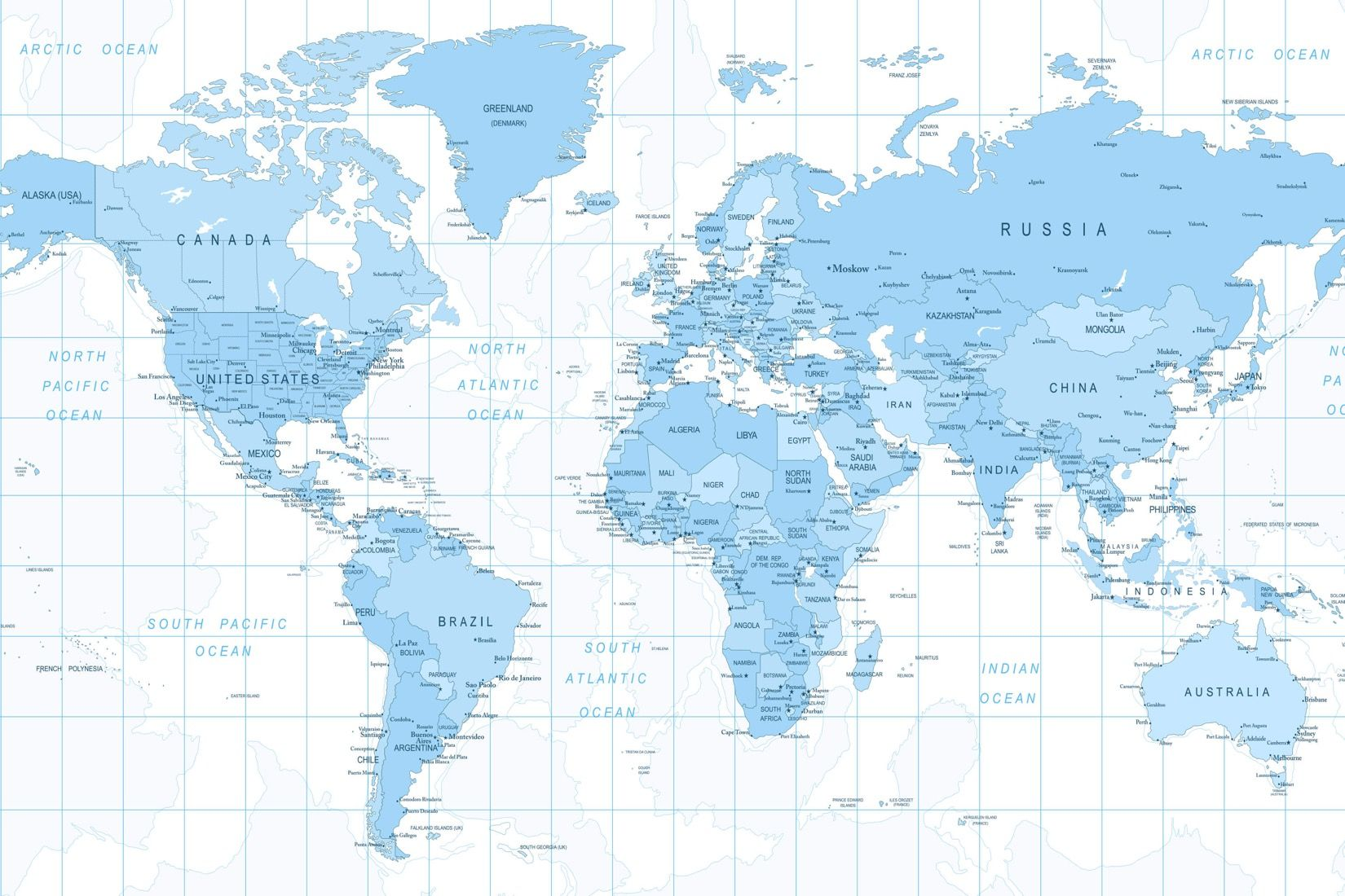 Blue detailed world map wall mural muralswallpaper design quality blue detailed world map mural custom made to suit your wall size by the uks no1 murals custom design service and express delivery available gumiabroncs Choice Image