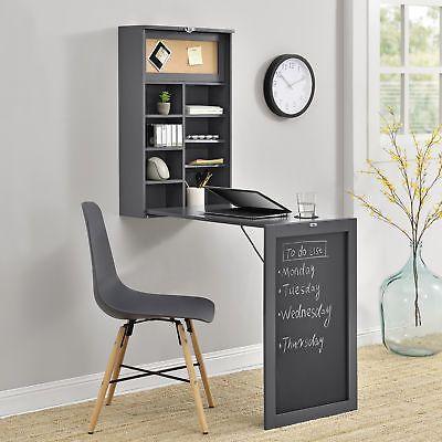 encasa® Wandtisch Grau Schreibtisch Tisch Regal Wand Klapptisch - kleiner küchentisch klappbar