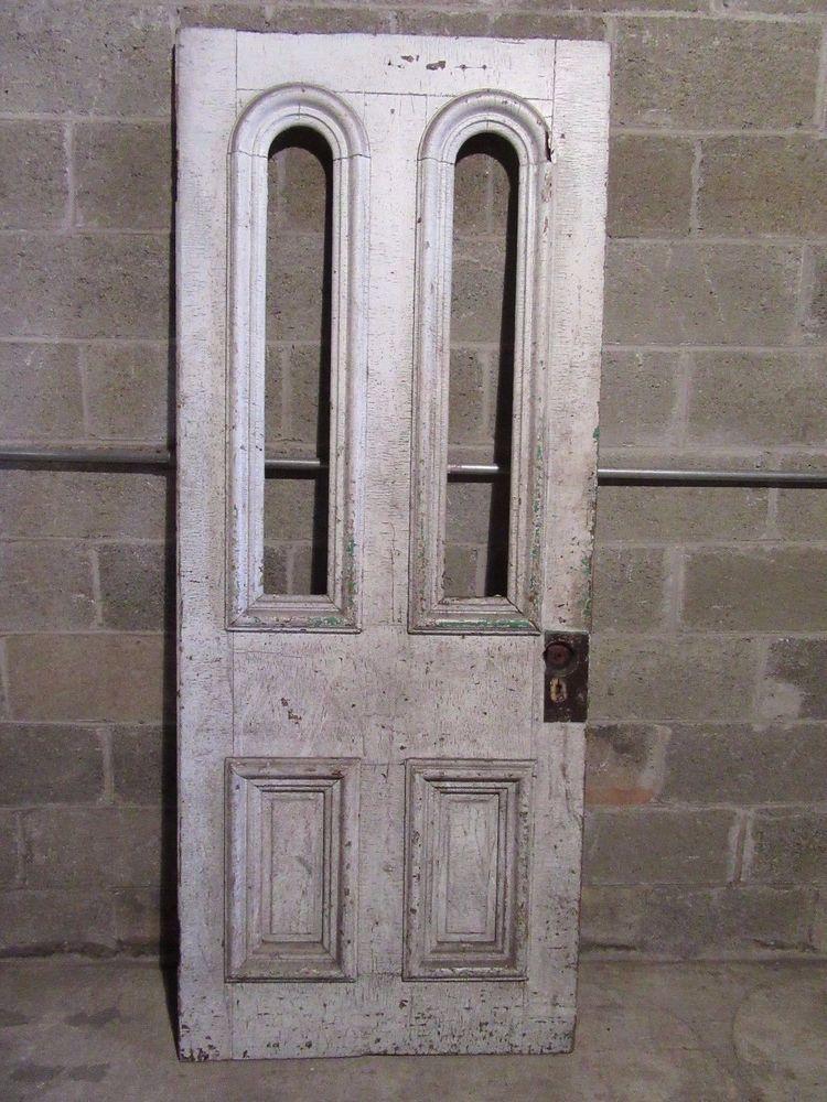 ANTIQUE DOUBLE TOMBSTONE DOOR ~ 32 X 78.5 ~ ARCHITECTURAL SALVAGE ~ | eBay & antique double tombstone door ~ 32 x 78.5 ~ architectural salvage ...