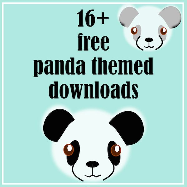 21 Free Printable Panda Gifts Cards And Toys