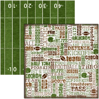 Reminisce Football Collection 12x12 Double Sided Paper