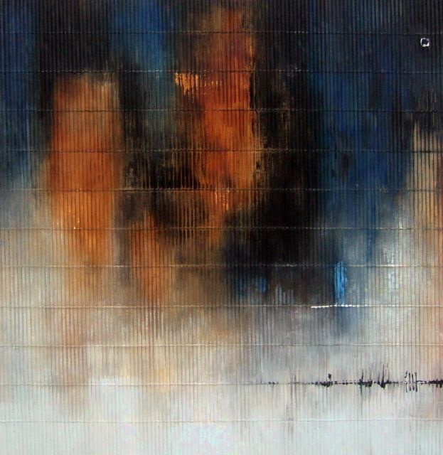 Painting, Acrylic, Acrylic on rush carpet 60 x 60 cm - Image #171868