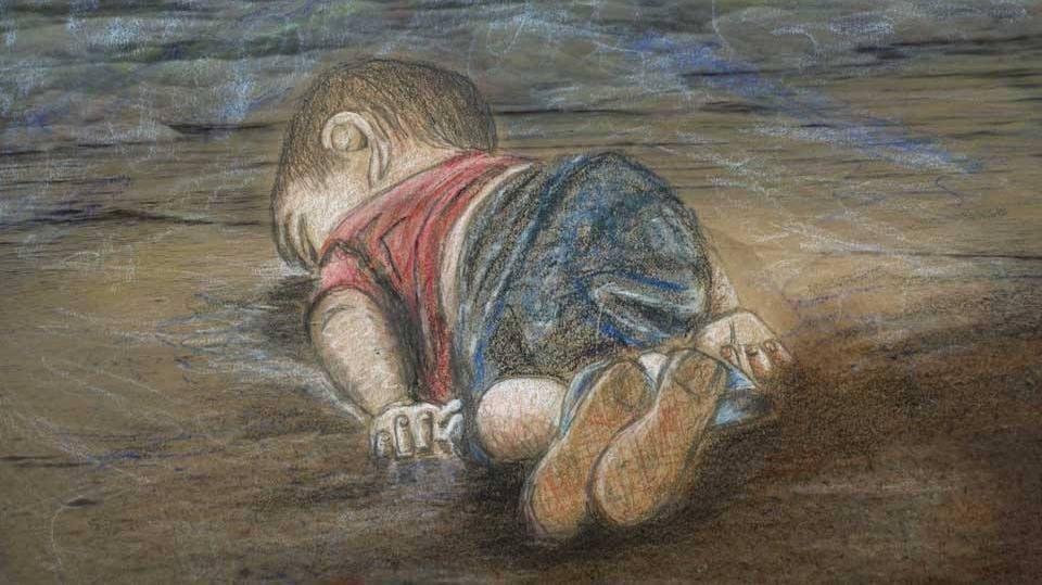 Nas redes sociais, ilustrações têm sido compartilhadas em homenagem aos meninos e às outras vítimas da tragédia