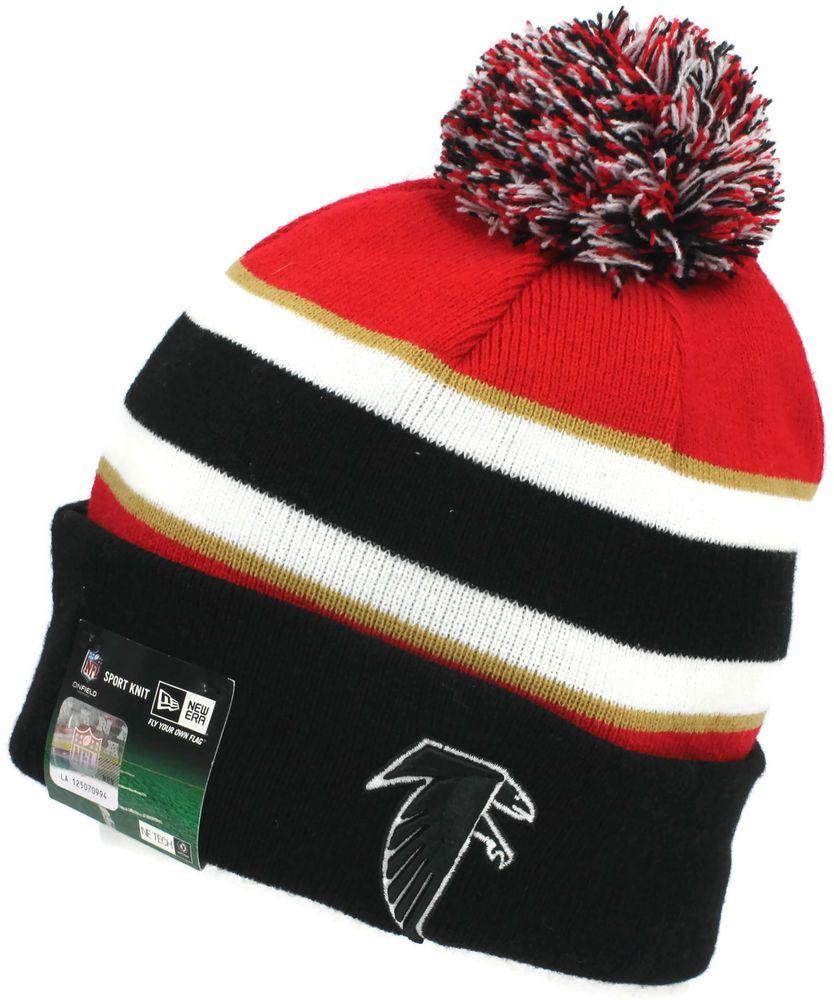 Nfl New Era Atlanta Falcons On Field Sport Knit Beanie Pom Hat Cap Authentic Nwt Newera Atlantafalco Atlanta Falcons Hoodie Atlanta Falcons Crafts Retro Logo