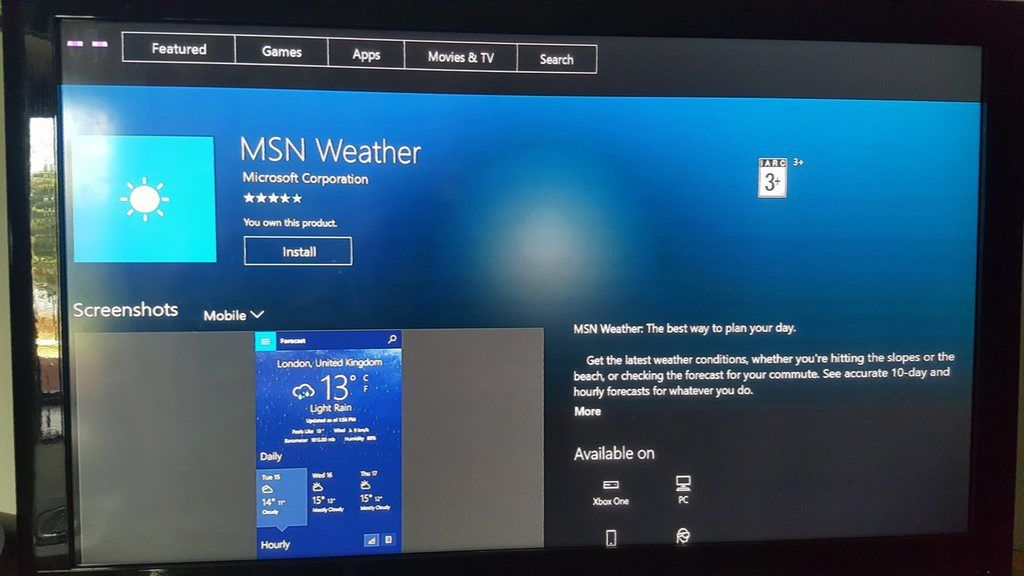 MSN Weather app adds Transparent Live Tile for Insiders | Sihmar