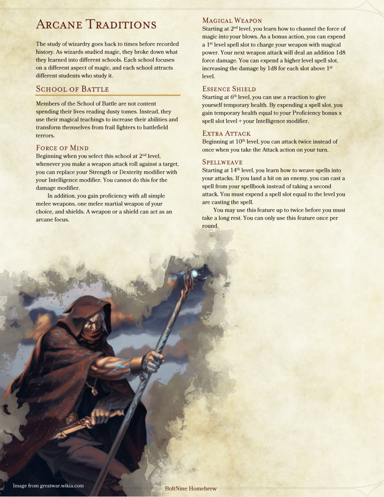 Dnd 5e wizard spells description pdf