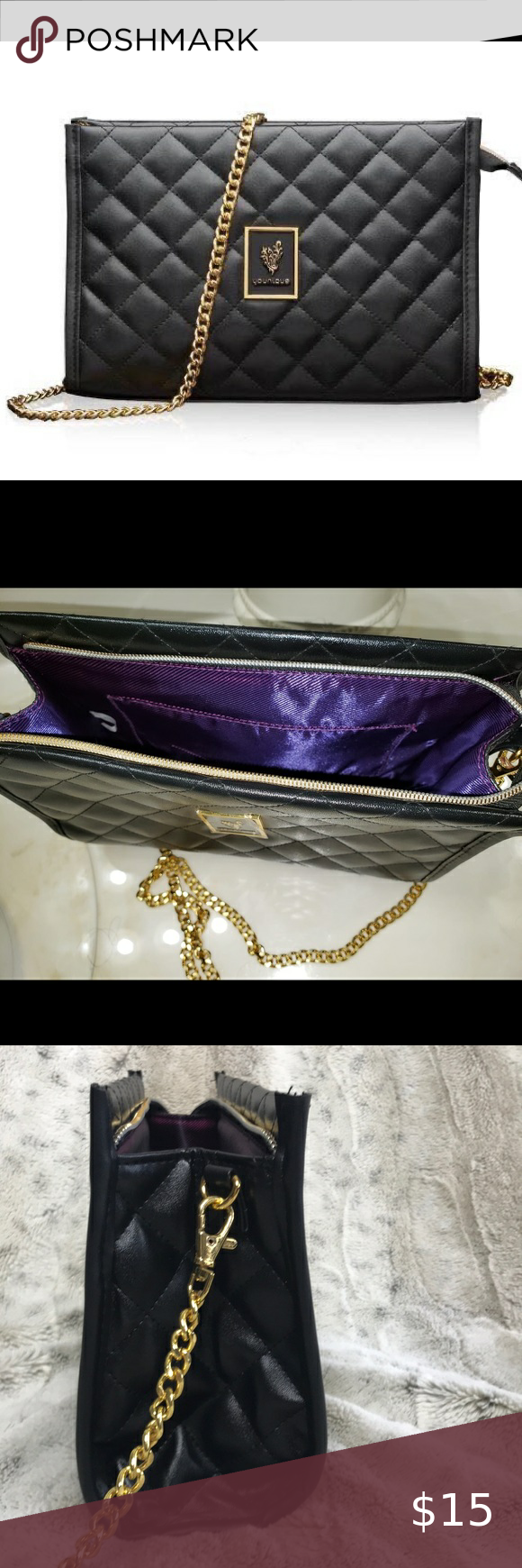 NWT Younique makeup bag Good size bag. Purple in side