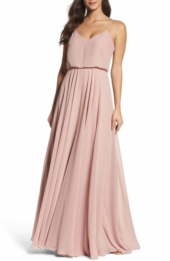 Rose Gold Bridesmaid Dress Gowns Cream Bridesmaid