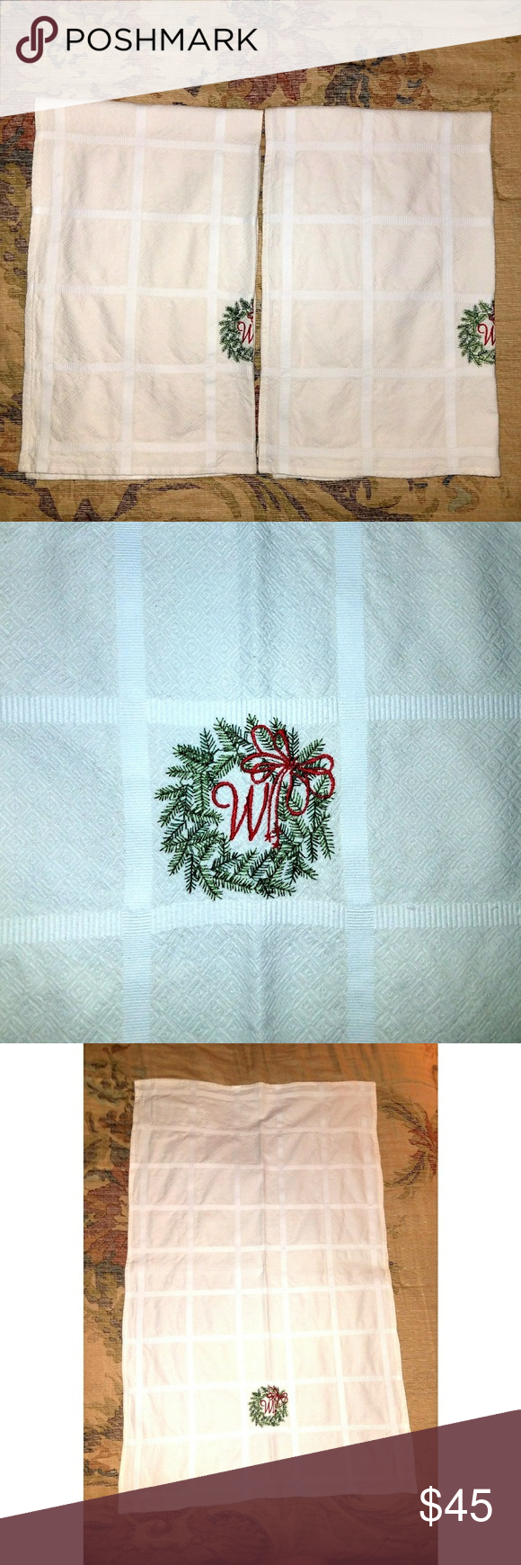 ❄Holiday Embroidered Towels