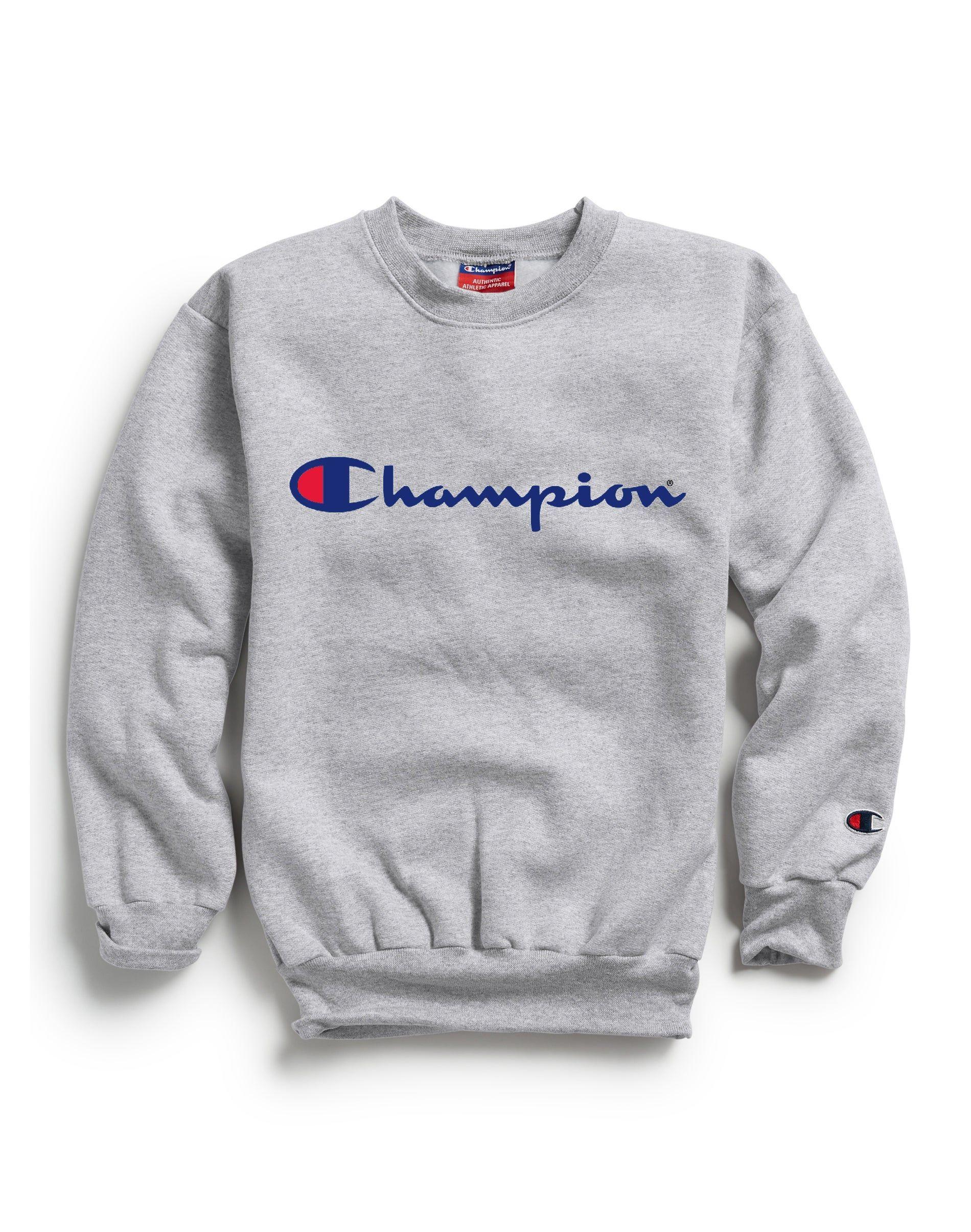 Champion Kids Athletics Double Dry Sweatshirt Script Logo Light Steel Champion Clothing Sweatshirts Baggy Sweatshirts [ 2410 x 1900 Pixel ]