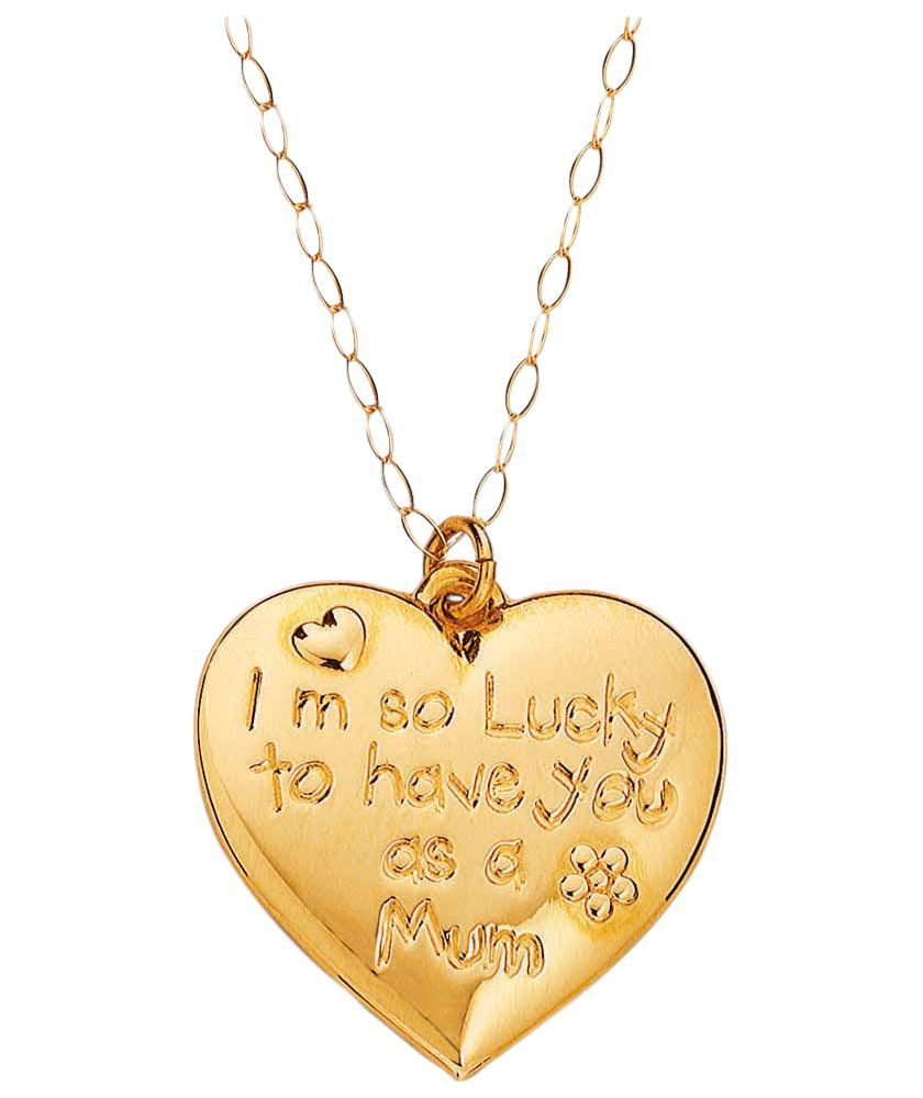 Buy 9ct Gold From the Heart 'Mum' Pendant at Argos.co.uk ...