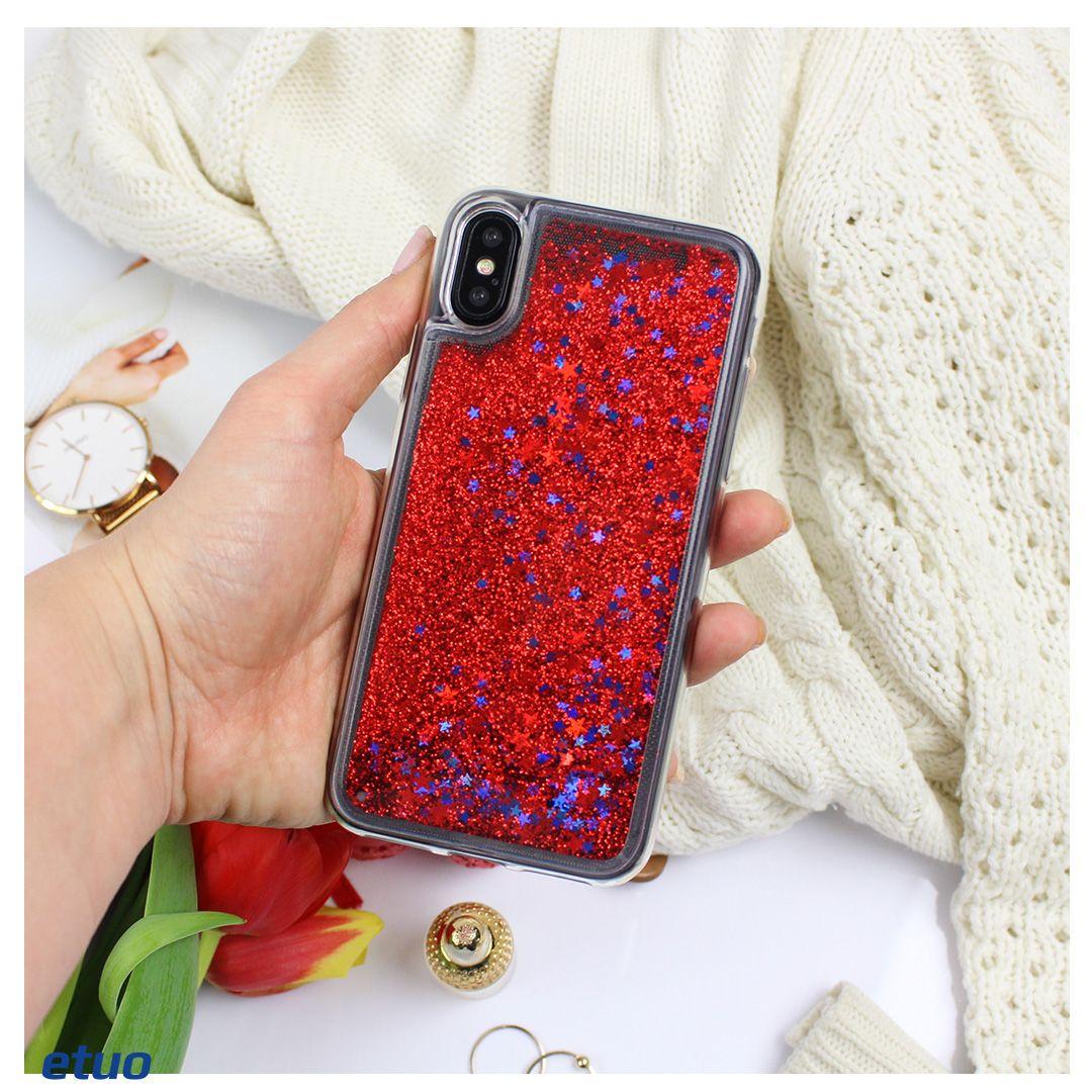 Czerwone Etui Z Plynnym Brokatem Do Iphona X D Dostepne W Cenie 25 90 Zl W Naszym Sklepie Iphone Telefon
