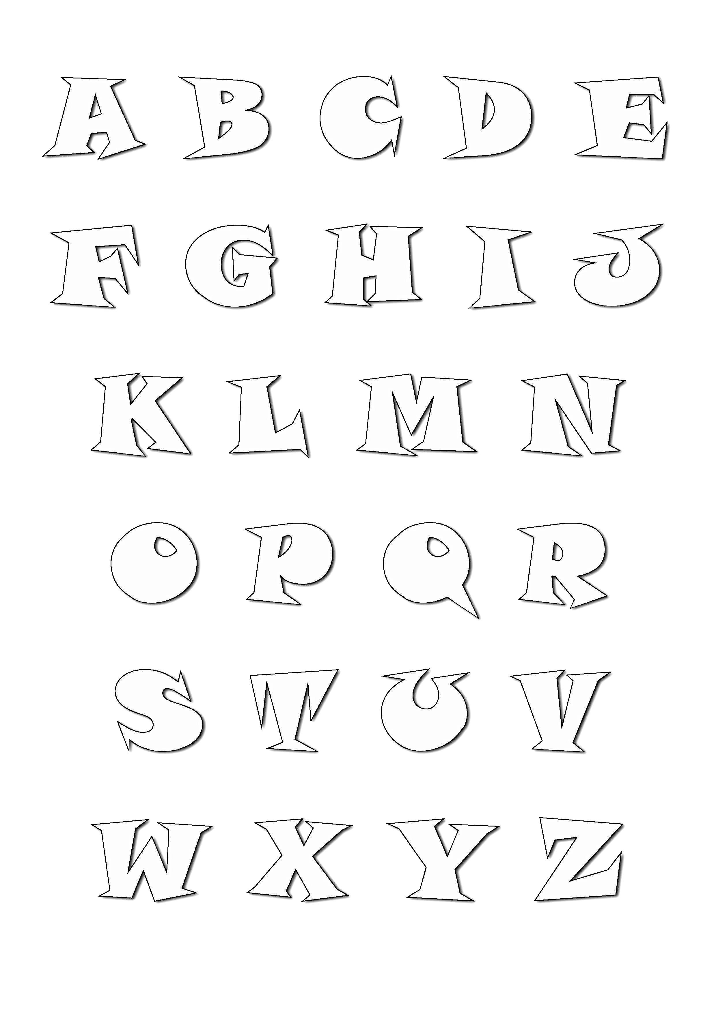 Alphabet cartoon style - Alphabet Coloring pages for kids ...