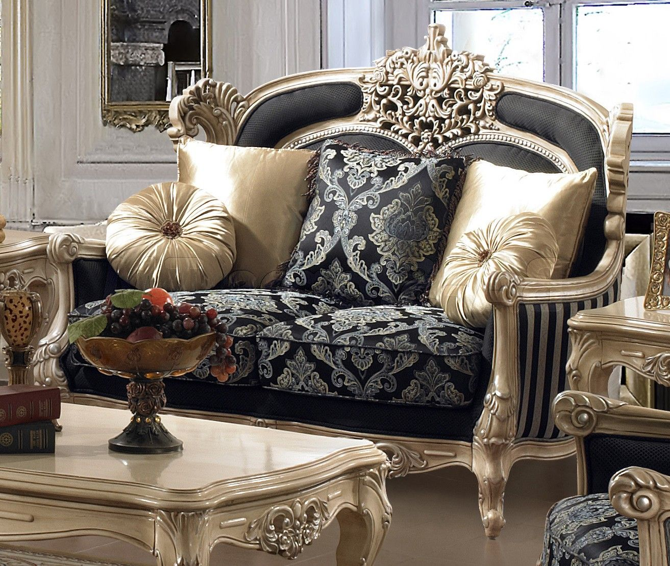Formal traditional living room sets chic formal luxury traditional living room pc sofa loveseat chair set