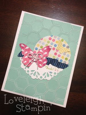 Dana Kent Stampin' Up! Demonstrator Cased Butterfly Card