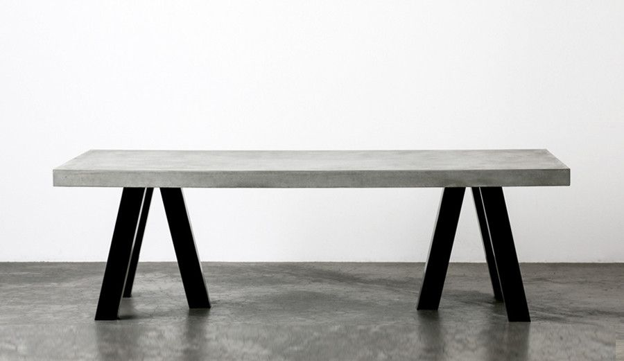Perfect The London Concrete Dining Table Is Where It All Started. A Thick Concrete  Top Dining