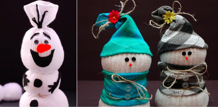 14 bonshommes de neige faire avec des chaussettes bonhomme de neige chaussettes et bonhomme - Bonhomme de neige en chaussette ...