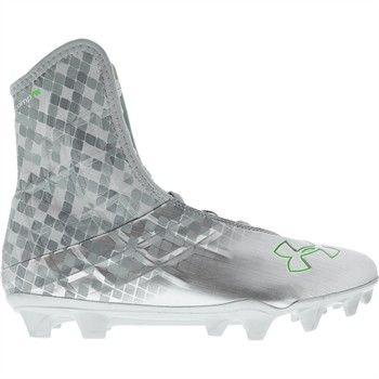 Football Cleats - Silver/Hyper Green