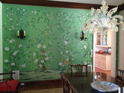Silver Screen Surroundings: Sharp Objects and deGournay | TV Shows | Silk wallpaper, Hand ...
