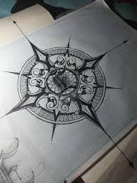 Risultati immagini per vintage compass tattoo
