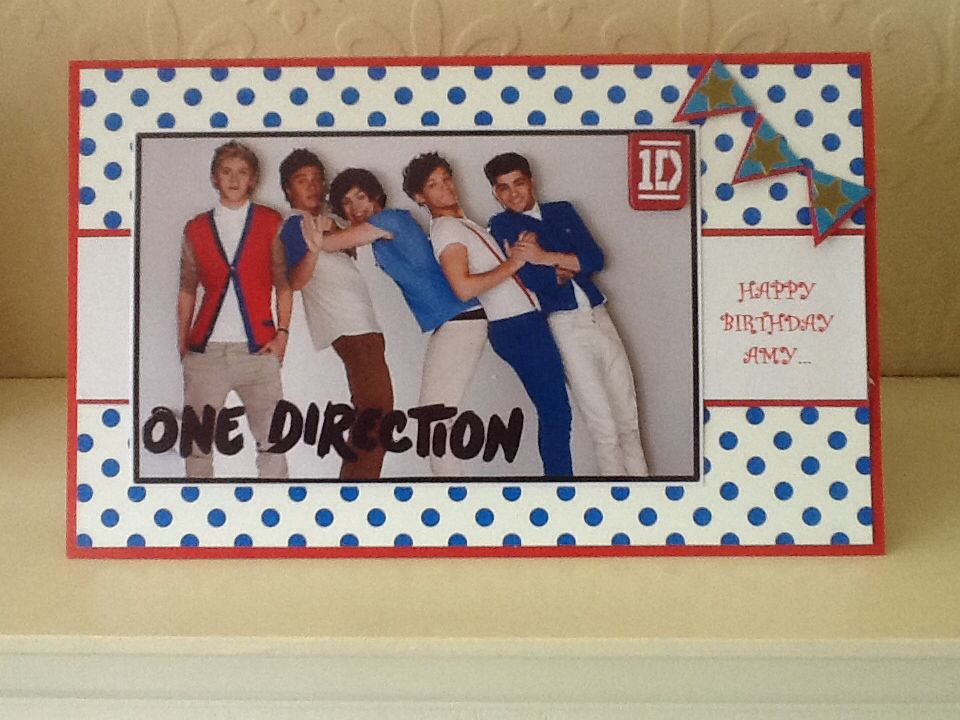 One Direction Birthday Card One Direction Birthday Birthday Cards Cards