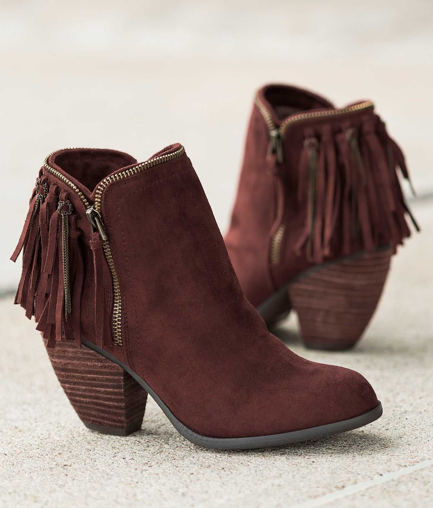 Not Rated Flippin Fringe Boot Women S Shoes Buckle Zapatos Dama Botines Zapatos
