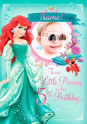 Ariel Little Mermaid Photo Card Funky Pigeon Disney Cards Girl Birthday Cards Unique Cards
