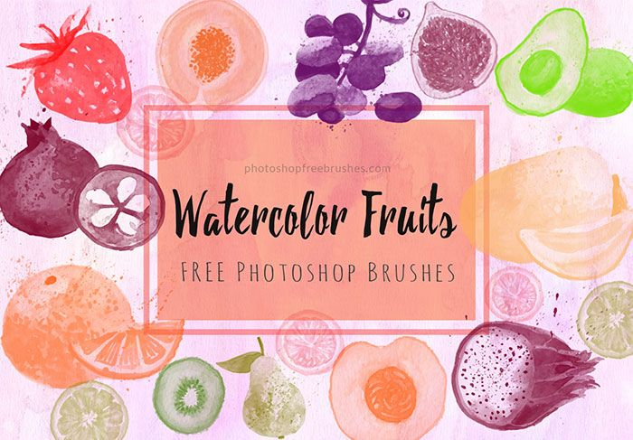 14 Free Watercolor Fruits Brushes For Photoshop Photoshop