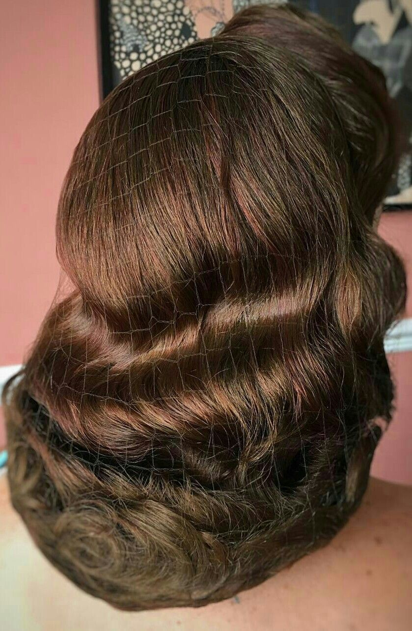 Pin by Little Miss Sun Shine on glossy hairset  Retro hairstyles