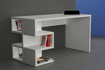 Bureau Aaron Blanc Meuble Rangement Mobilier Design Mobilier De Salon