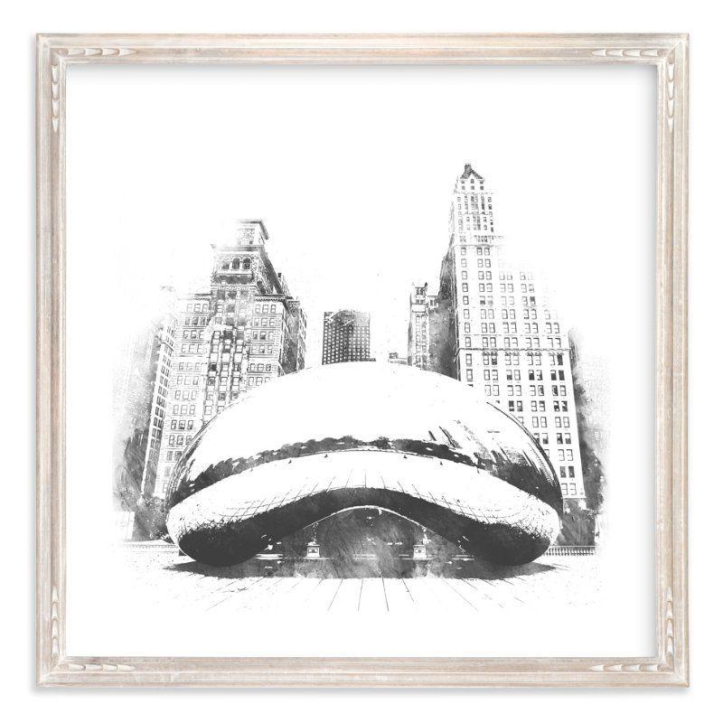Chicago bean art print art art prints wall art prints