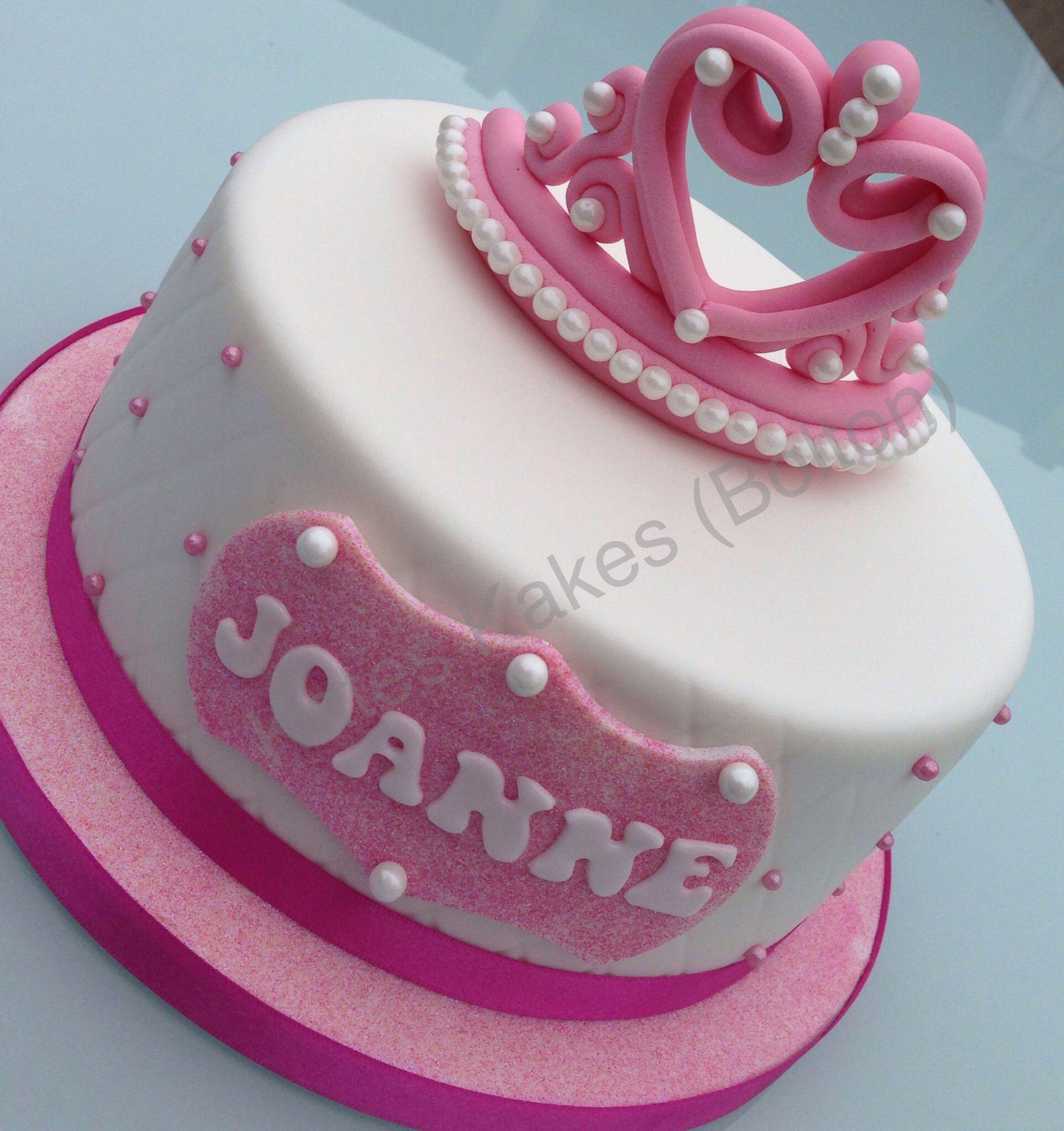 Princess tiara crown cake Childrens Birthday Cakes ...