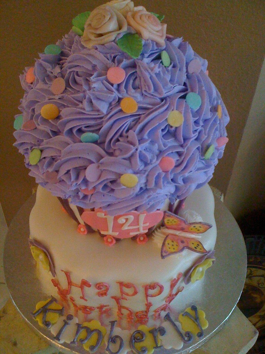 Giant Cupcake Cake #giantcupcakecakes
