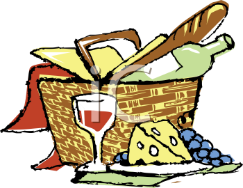 Iclipart Royalty Free Clipart Image Of A Picnic Basket Full Of Food Royalty Free Clipart Picnic Basket Clip Art