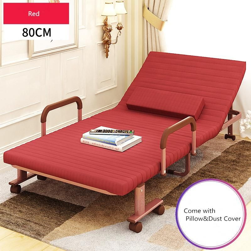 80cm Wide Folding Bed With Mattress Bedroom Furniture Rollaway
