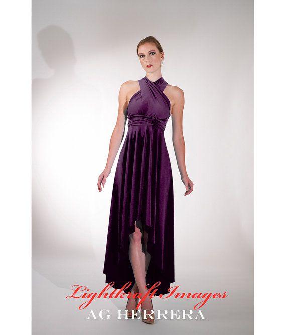 Any Size /& Length ANGLED Infinity Dress bridesmaid dress multiway dress wedding convertible dress 200+ colors Custom Handmade